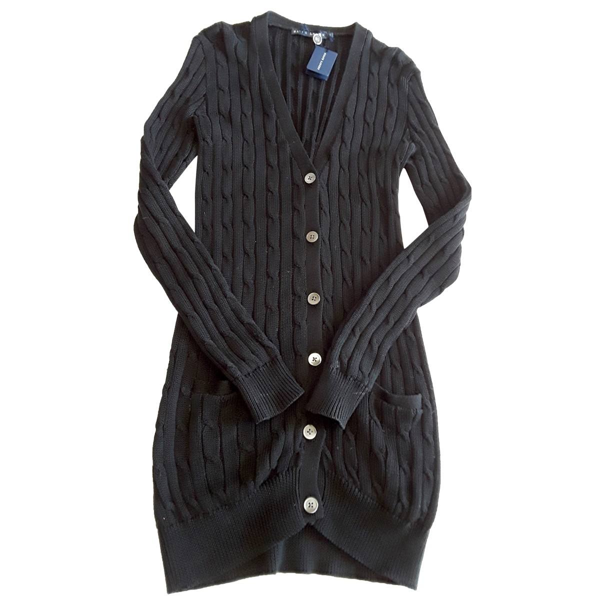 Ralph Lauren \N Black Cotton Knitwear for Women 36 FR