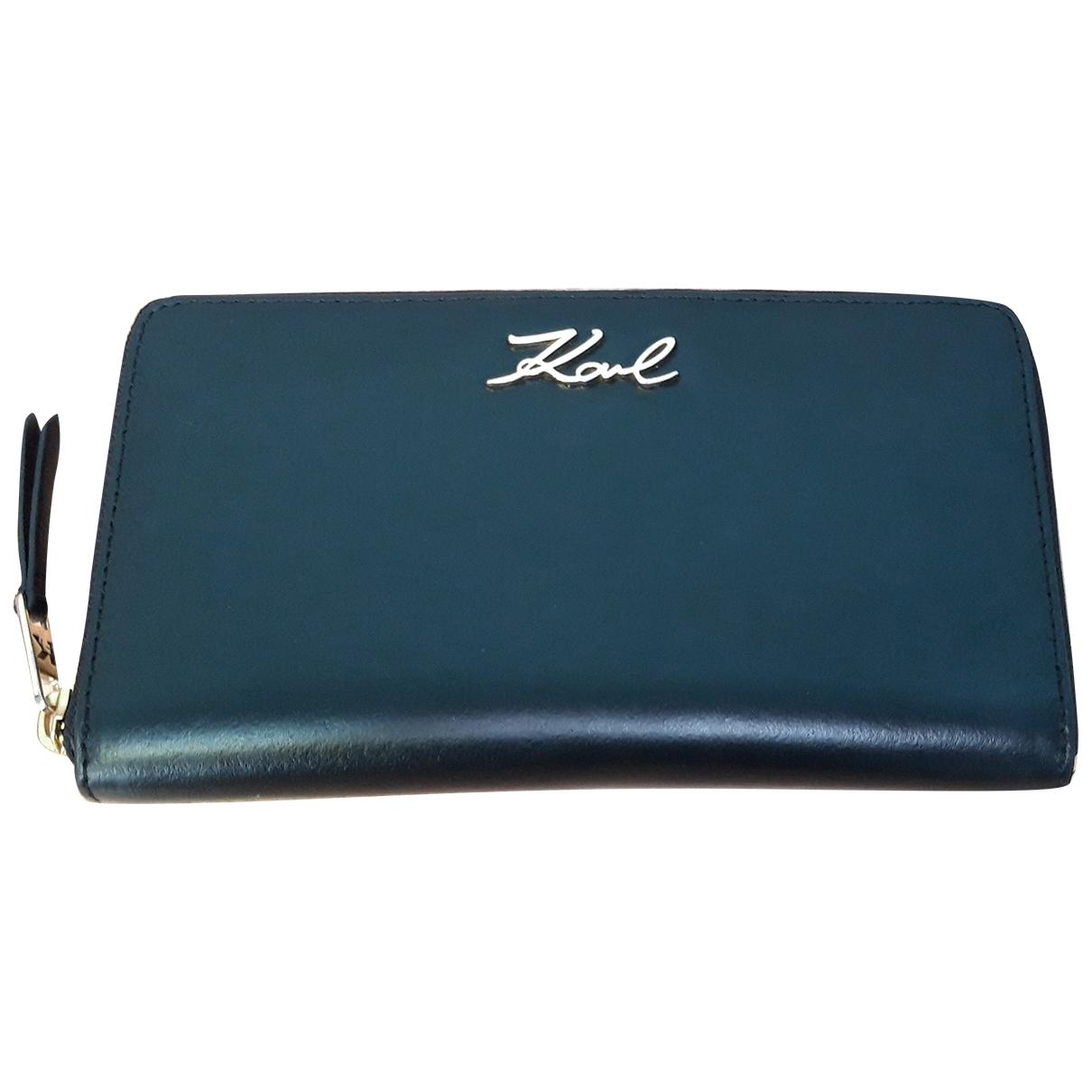 Karl \N Black Leather wallet for Women \N
