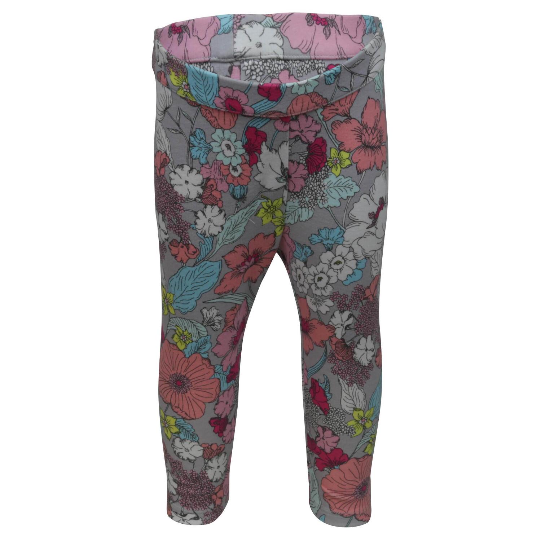 Janie And Jack Grey / Floral Multi Ponte Pant Pants - 12-18 Months