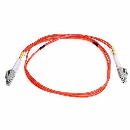 Câble fibre optique, OM2 LC/LC, multi mode, duplex - (type 50/125) - orange - Monoprice® - 1m