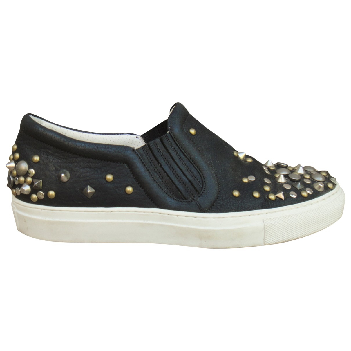 Sartore \N Black Leather Trainers for Women 36.5 EU