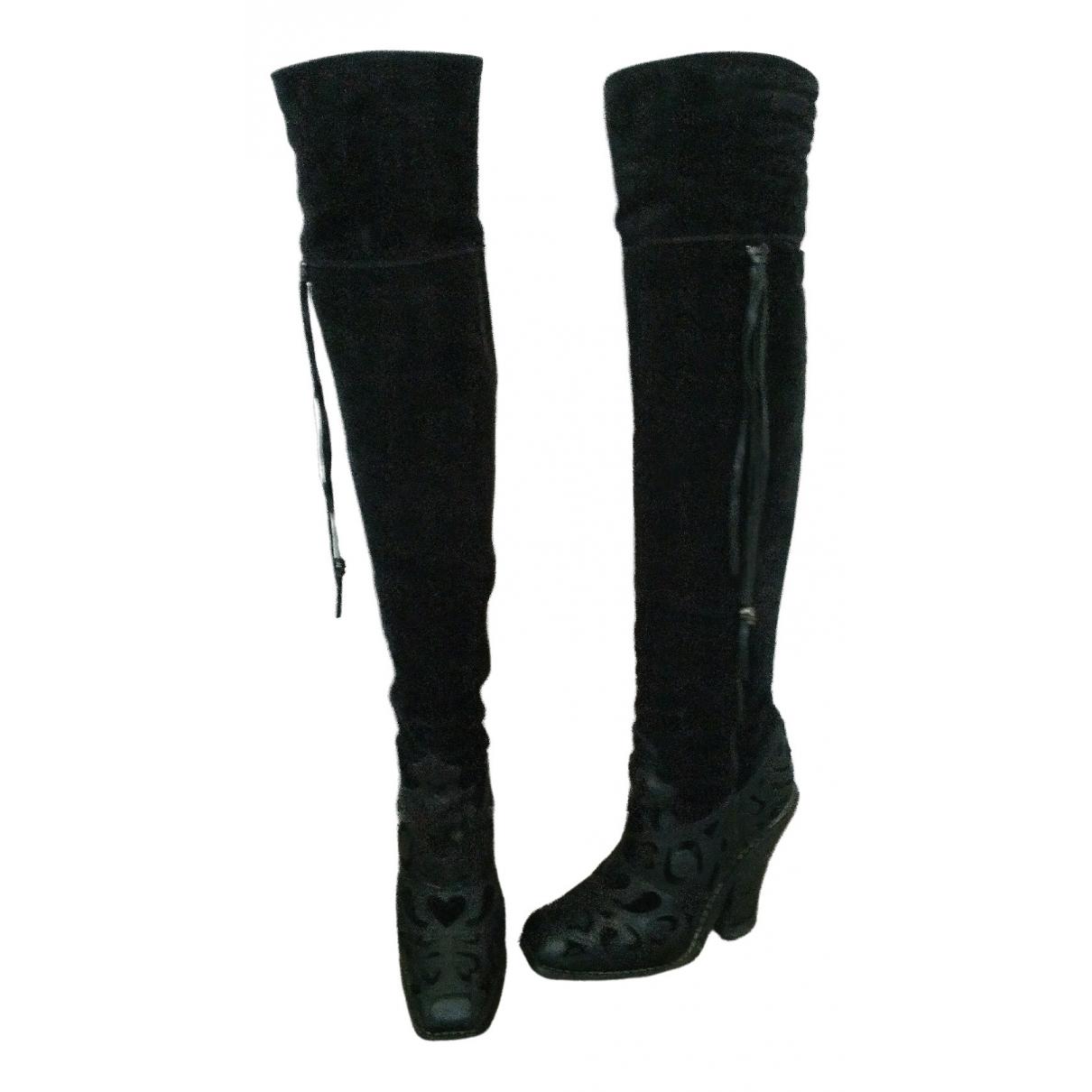 Barbara Bui \N Black Suede Boots for Women 38.5 EU