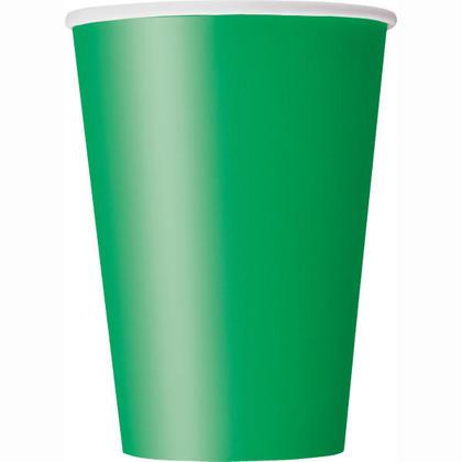 Party Paper Cup 12oz Emerald Green Solid 10Pcs