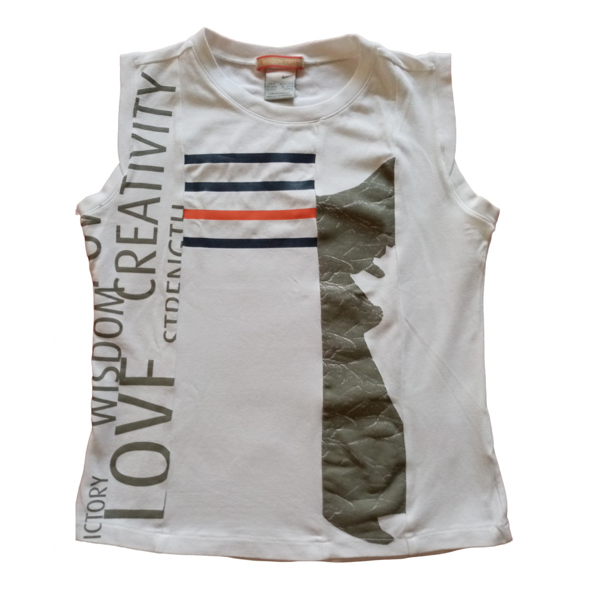 Nike \N White Cotton  top for Women 40 IT
