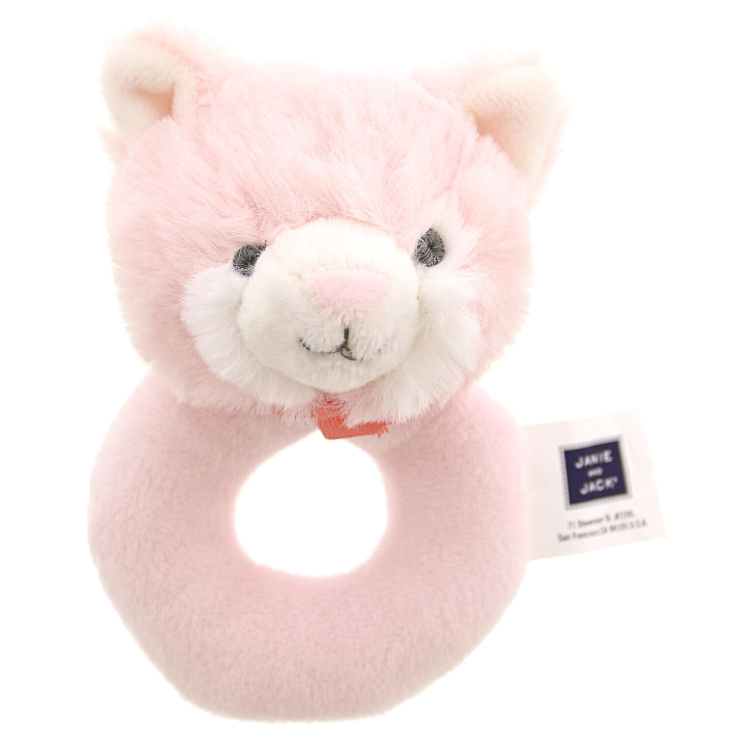 Janie And Jack Plush Cat Rattle Rattles & Ring 200364092