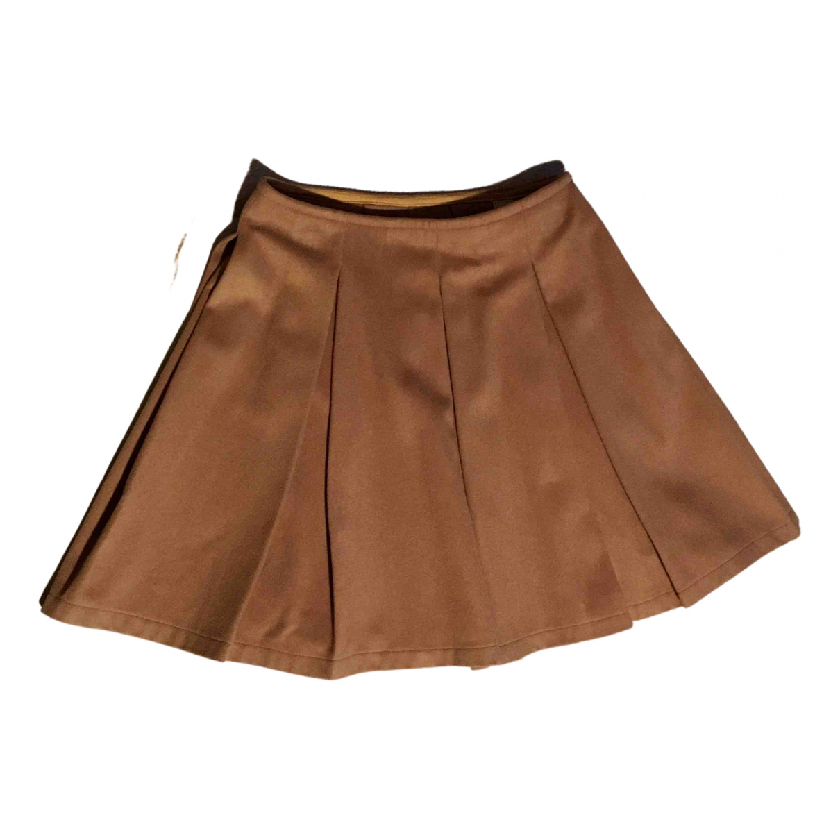 Non Signé / Unsigned \N Camel Wool skirt for Women 36 FR