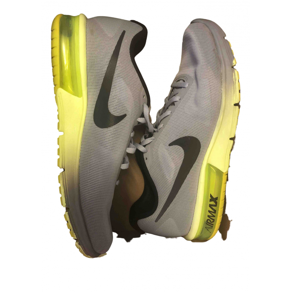 Nike Air Max  Grey Rubber Trainers for Men 44 EU