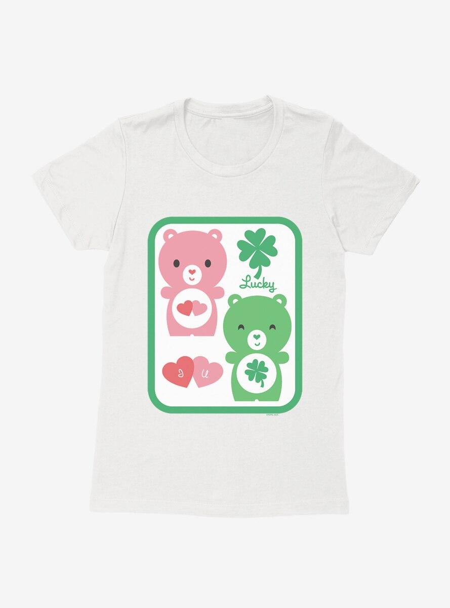 Care Bears Cartoon Luck Love Icons Womens T-Shirt