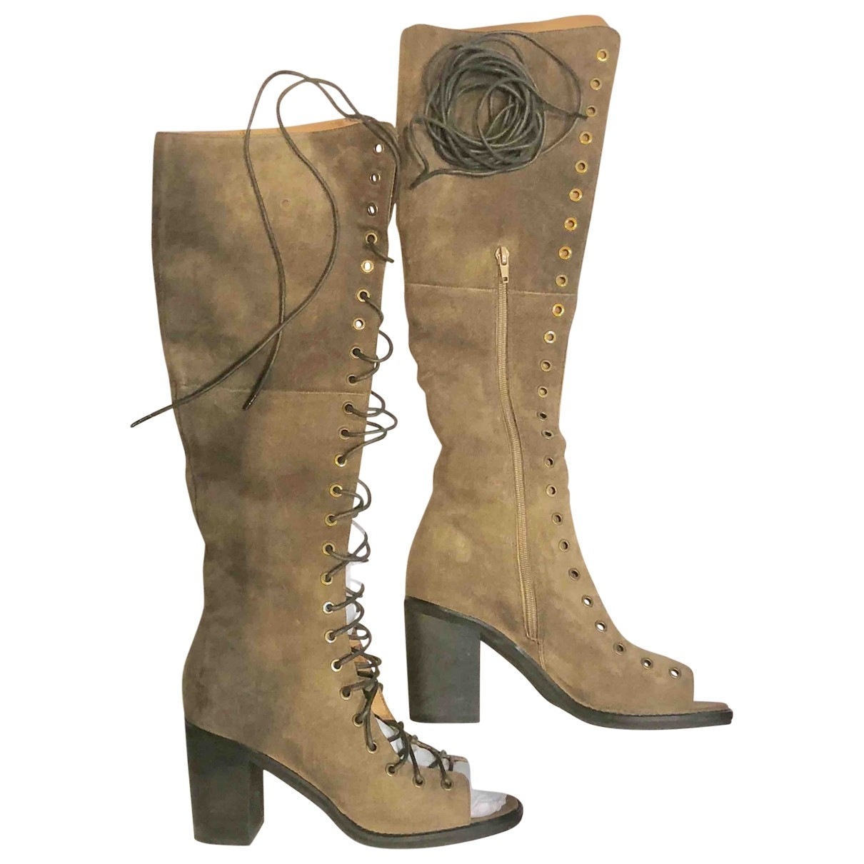 Jeffrey Campbell \N Beige Suede Boots for Women 10 US