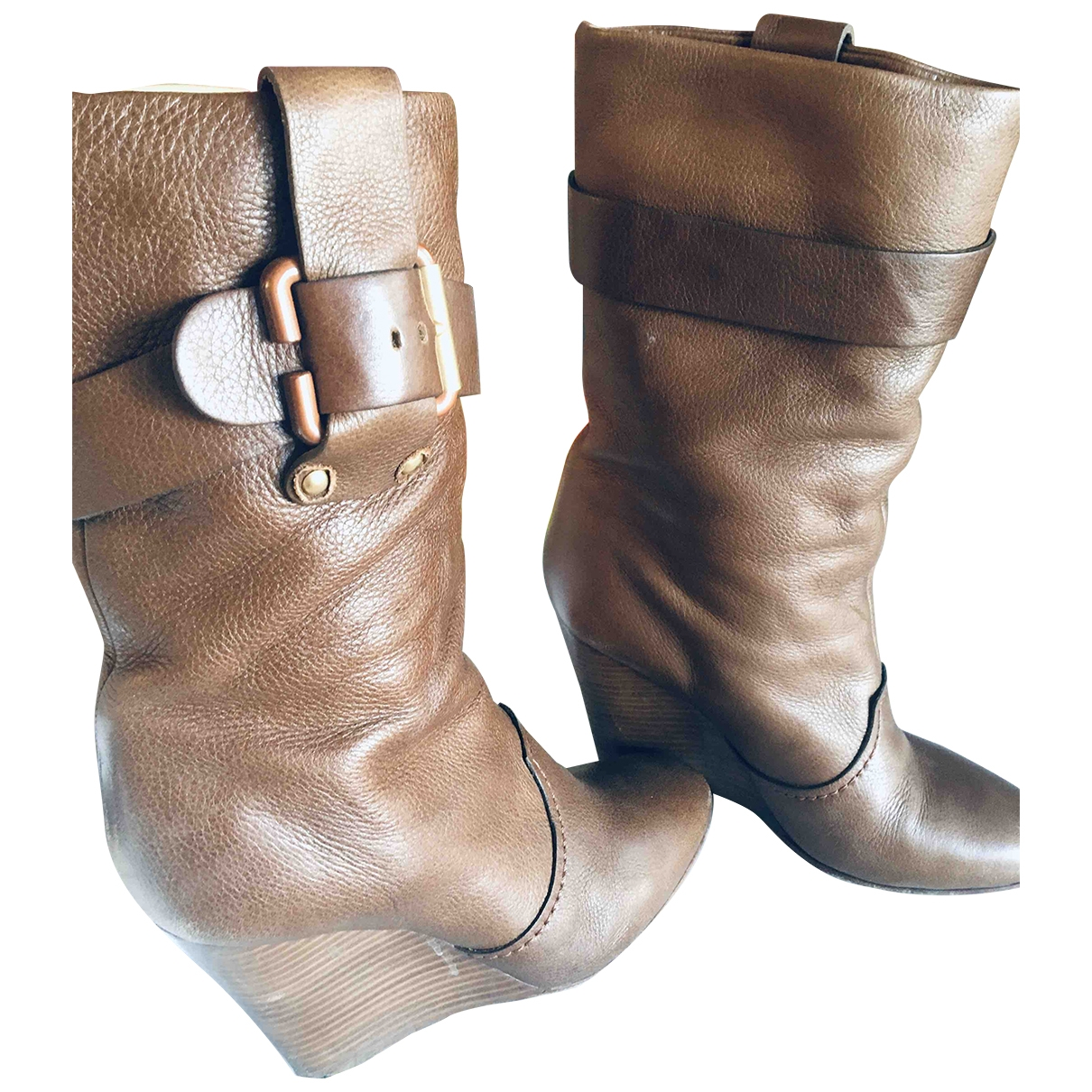Chloé \N Brown Leather Boots for Women 39 EU