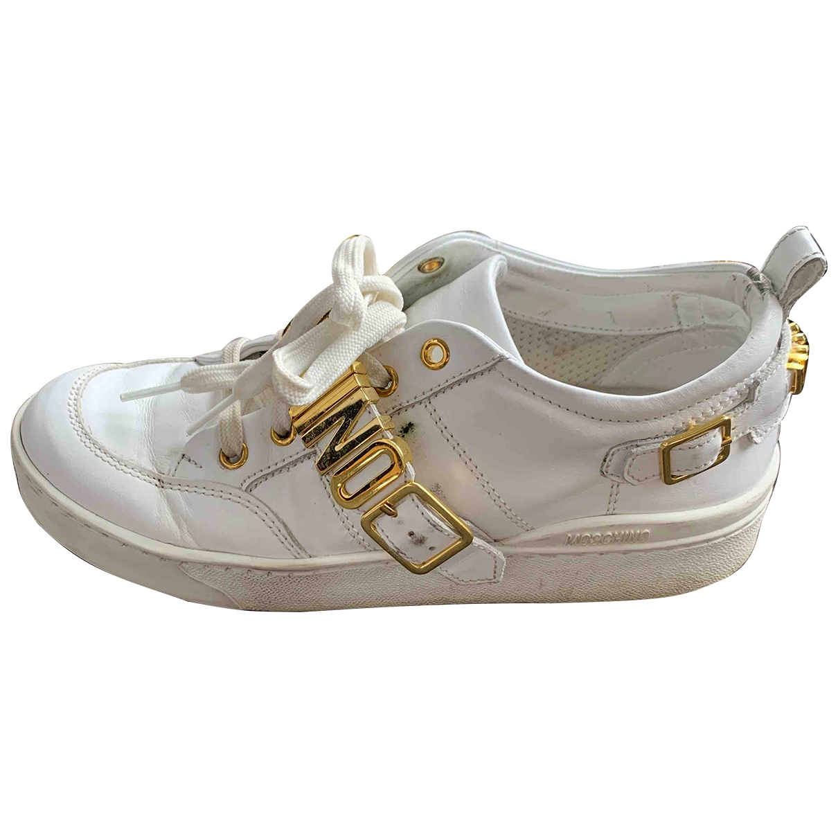 Moschino \N White Leather Trainers for Women 37 EU