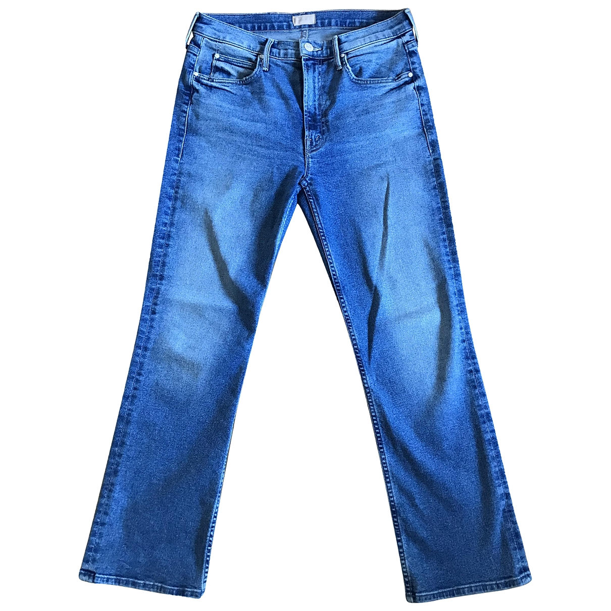 M\N Blue Cotton - elasthane Jeans for Women 27 US