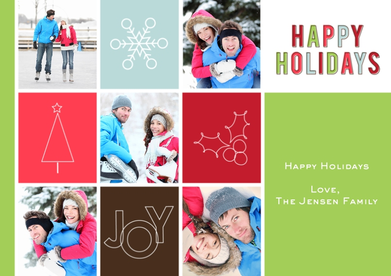 Christmas Photo Cards 5x7 Cards, Standard Cardstock 85lb, Card & Stationery -Symbolic Holiday