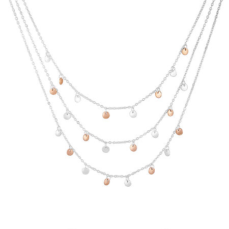 a.n.a 22 Inch Strand Necklace, One Size , Gray