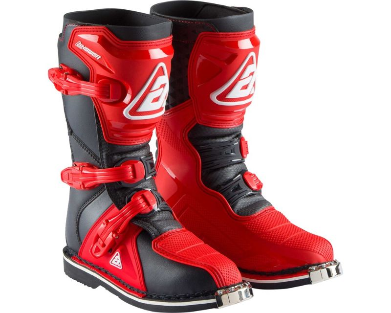 Answer 445229 AR1 Youth Boots Red Black Y5