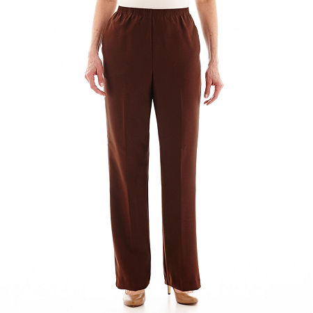 Alfred Dunner Pull-On Pants, 10 Short , Brown
