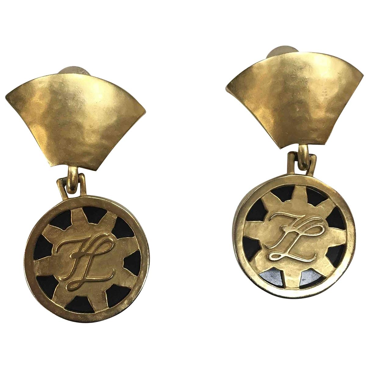 Karl Lagerfeld \N Gold Metal Earrings for Women \N