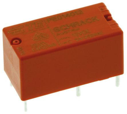 TE Connectivity , 12V dc Coil Non-Latching Relay SPDT, 5A Switching Current PCB Mount Single Pole (25)