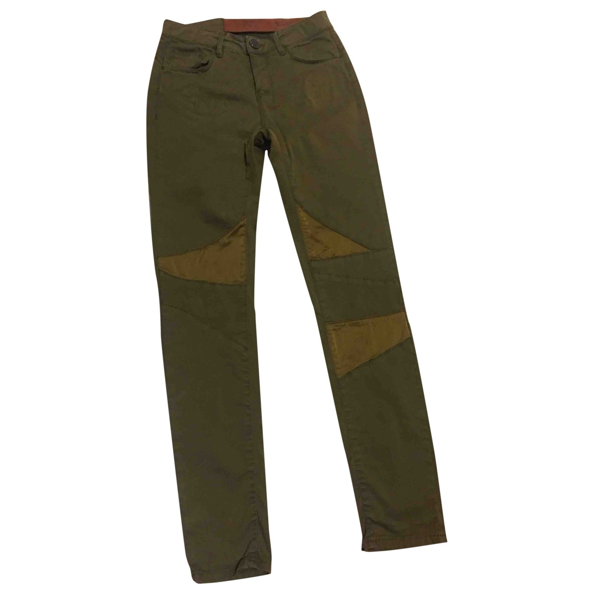 Pinko \N Green Cotton Trousers for Women 40 IT