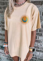 Sun And Moon Mini Dress without Necklace - Apricot