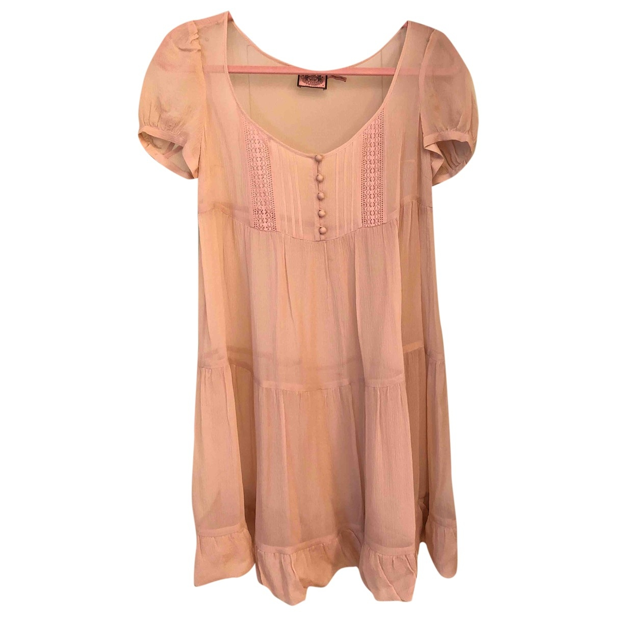 Juicy Couture \N Pink Silk dress for Women 4 US
