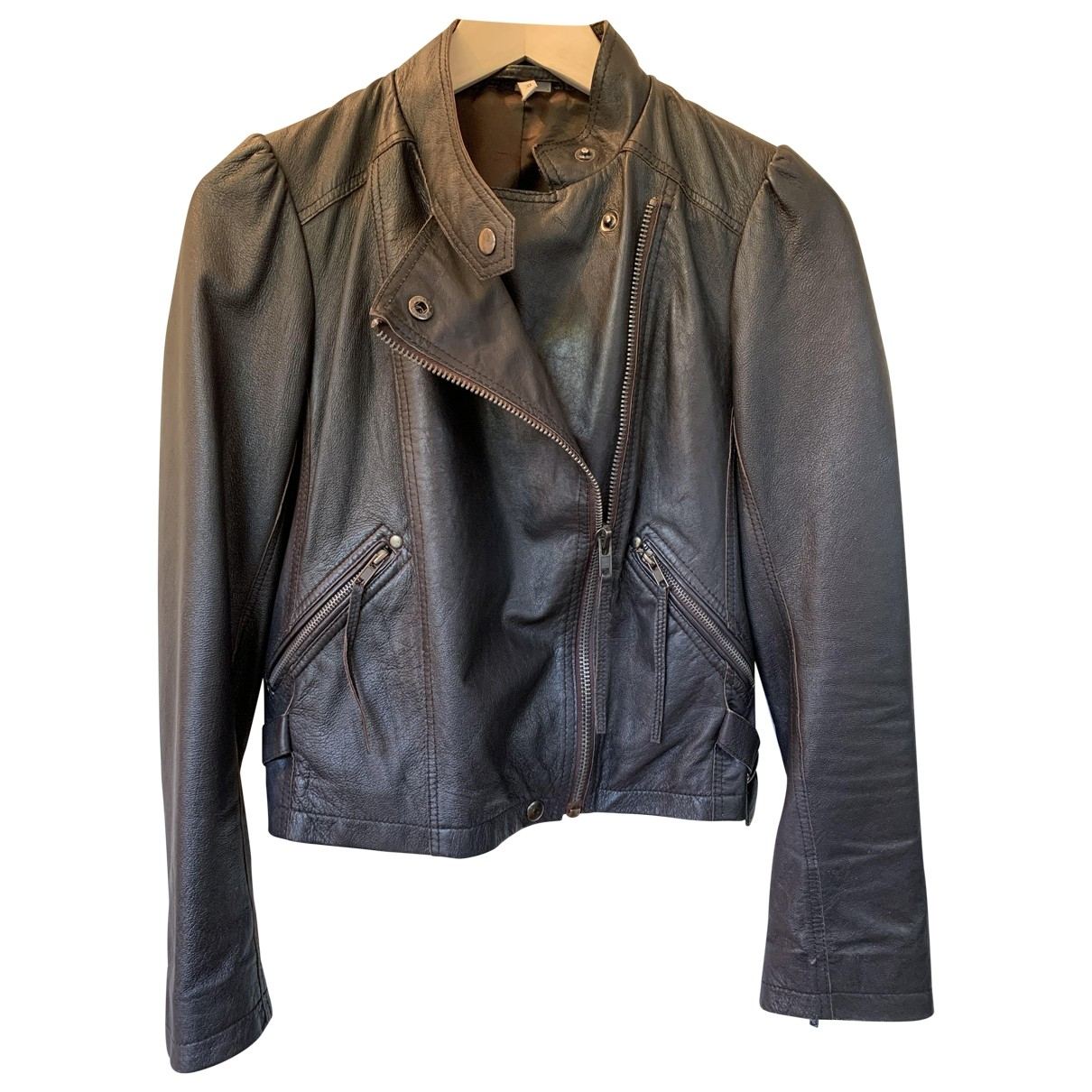 Iro \N Brown Leather jacket for Women 38 FR