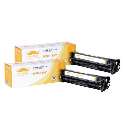 Compatible Canon 118Y 2659B001AA Yellow Toner Cartridge - Moustache@ - 2/Pack