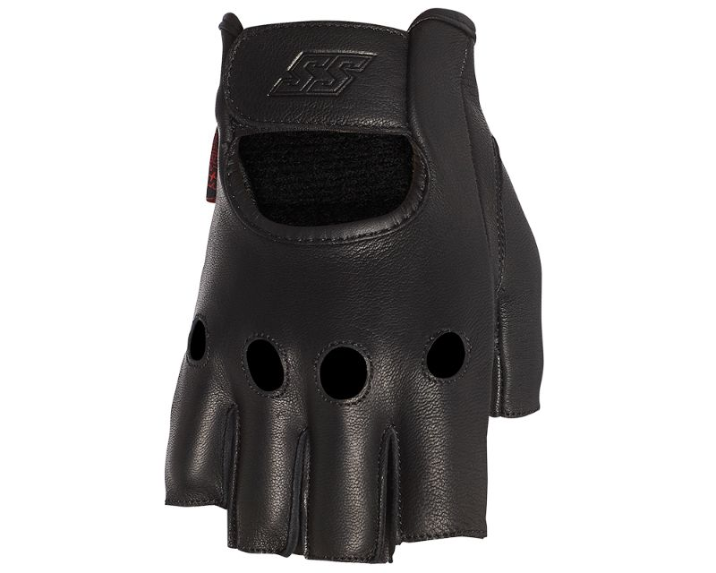 Speed and Strength 885225 1/2 Nelson Fingerless Leather Gloves Black XL