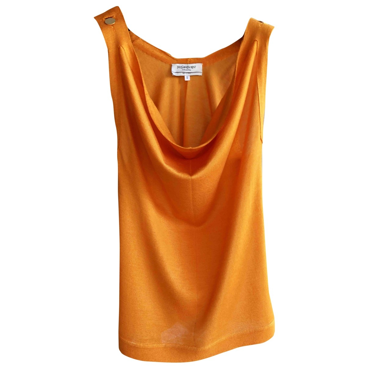 Yves Saint Laurent \N Orange Cashmere  top for Women 36 FR