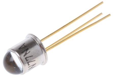 Vishay BPW77NA , ±10 ° IR + Visible Light Phototransistor, Through Hole 3-Pin TO-18 package (5)