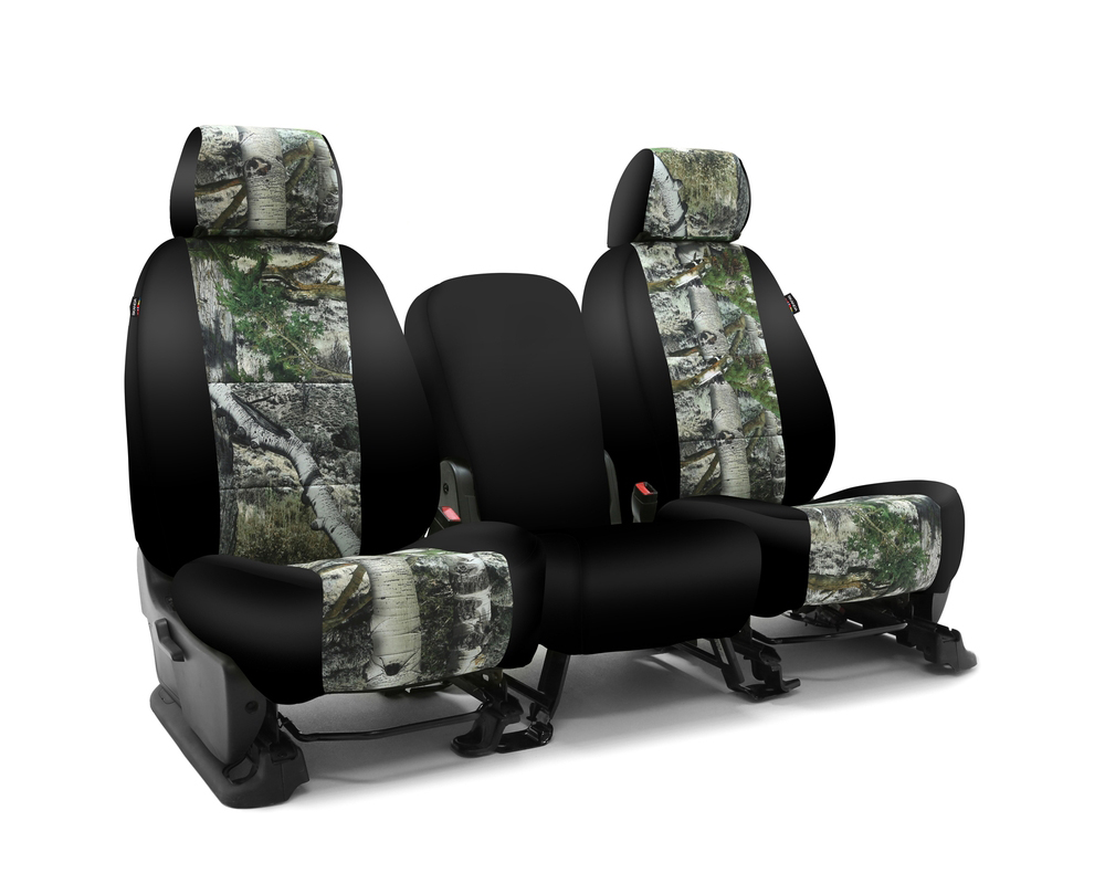 Coverking CSC2MO11RM1160 Skanda Custom Seat Covers 1 Row Neosupreme Mossy Oak Mountain Country with Black Sides Rear Ram 1500 Classic 2019-2021