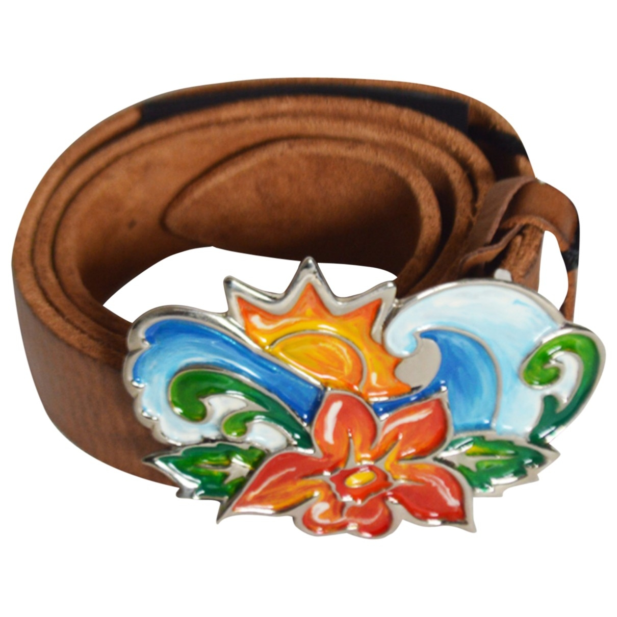Orciani \N Brown Leather belt for Women 90 cm