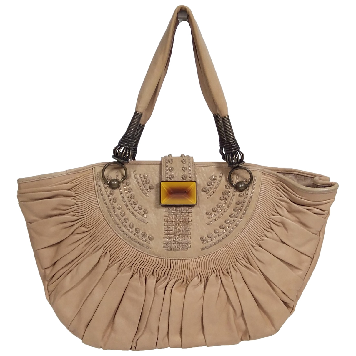 Dior \N Camel Leather handbag for Women \N