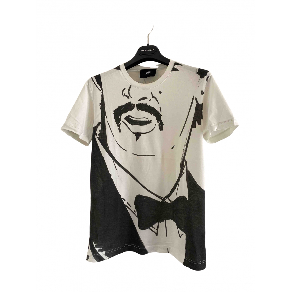 D&g \N White Cotton T-shirts for Men L International