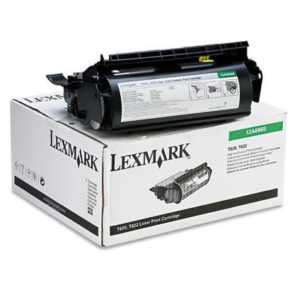 Lexmark 12A6865 cartouche de toner du programme retour originale noire haute capacite