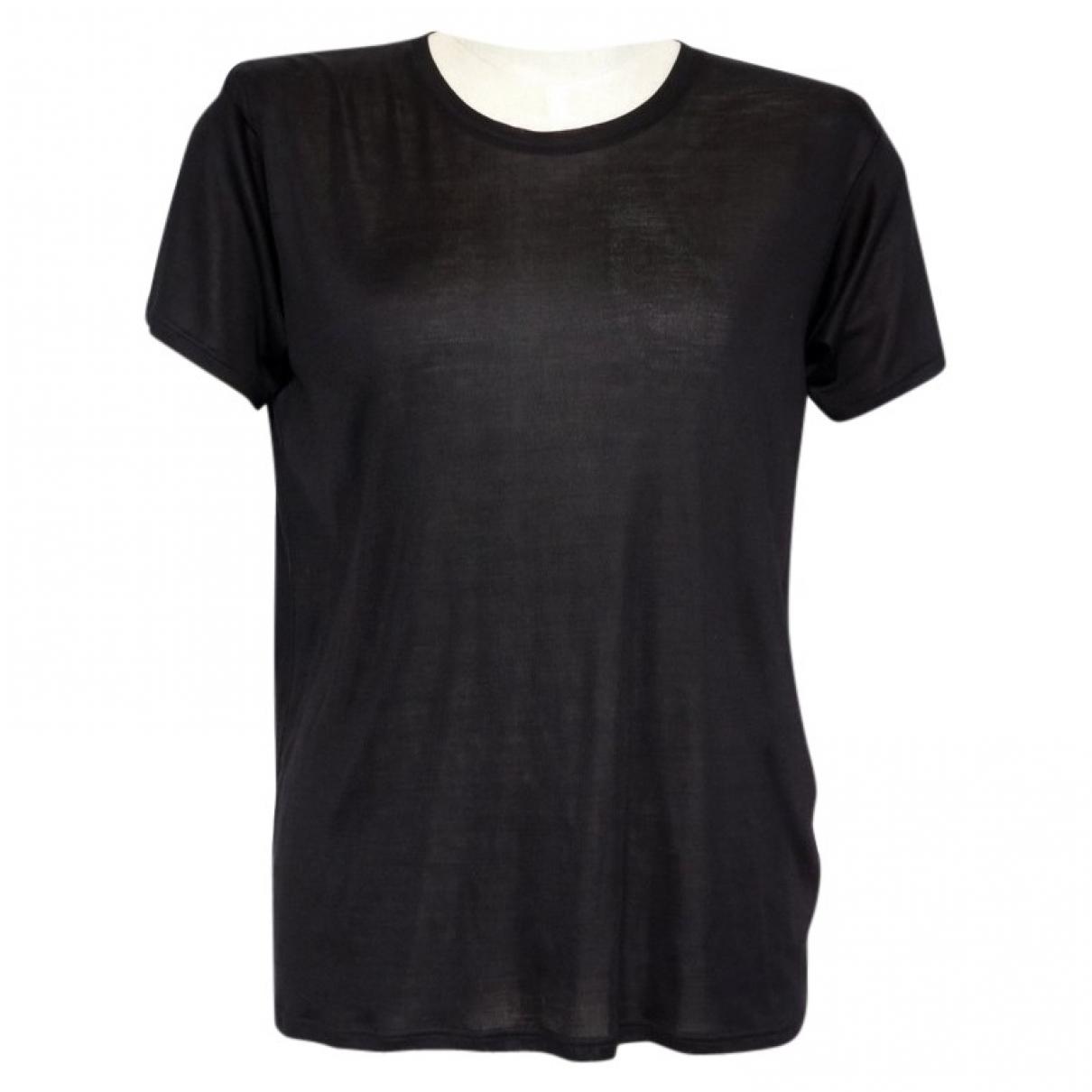 Yves Saint Laurent \N Black Silk  top for Women 38 FR