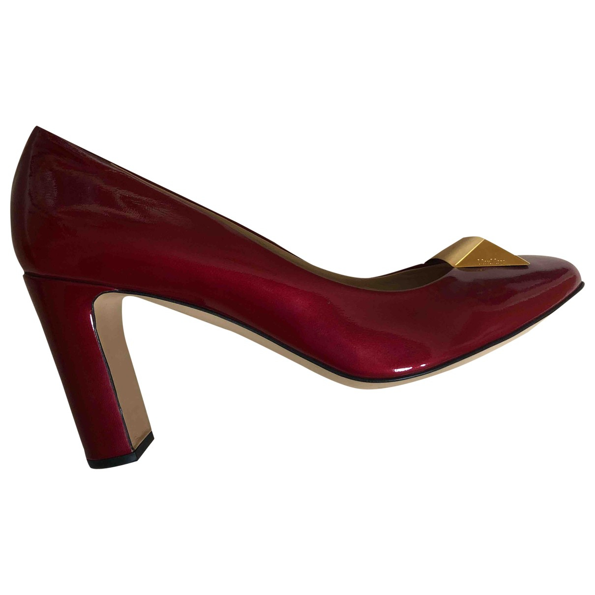 Max Mara \N Red Patent leather Heels for Women 39.5 EU