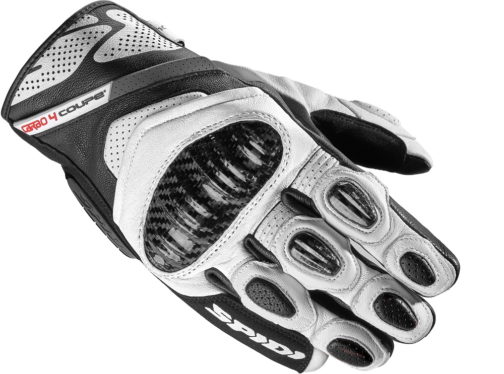 Spidi Carbo 4 Coupe Guantes Negro Blanco 2XL