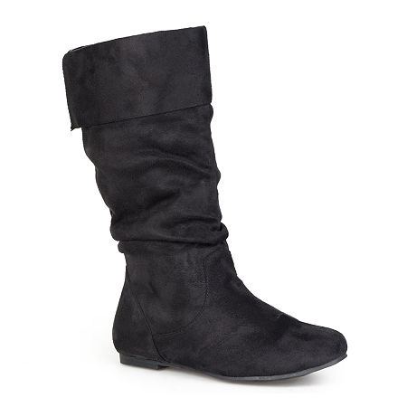 Journee Collection Womens Shelley Wide Calf Boots, 9 Medium, Black