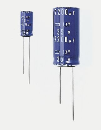Nippon Chemi-Con 220μF Electrolytic Capacitor 63V dc, Through Hole - ELXY630ELL221MK20S (5)