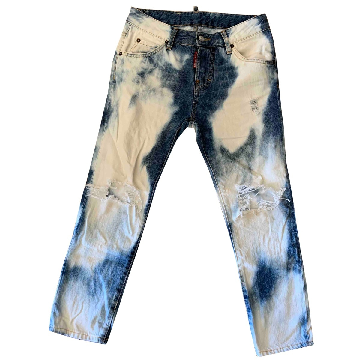 Dsquared2 \N Blue Cotton Jeans for Women 34 FR