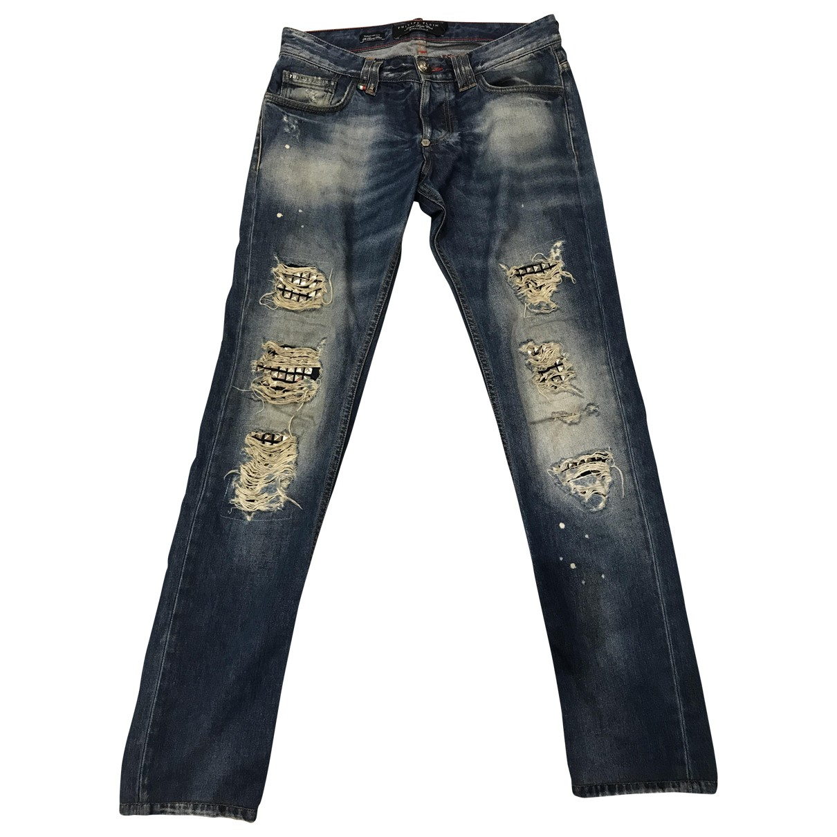 Philipp Plein \N Blue Cotton Jeans for Men 29 US
