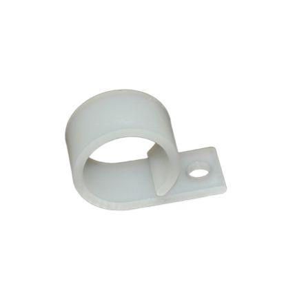 RS PRO Cable Clip Natural Screw Nylon Cable Clip, 19.1mm Max. Bundle