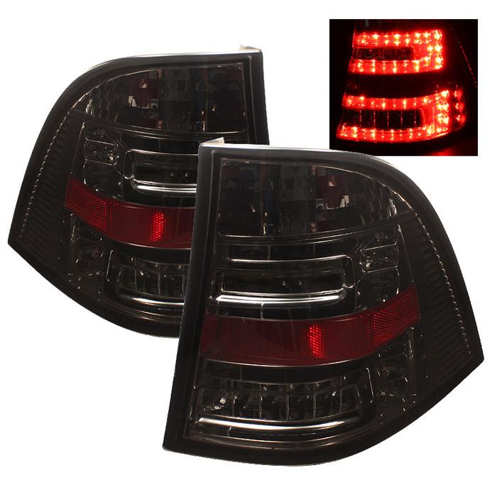 Spyder Auto ALT-YD-MBW16398-LED-SM Smoke LED Taillights Mercedes Benz W163 ML500 02-05