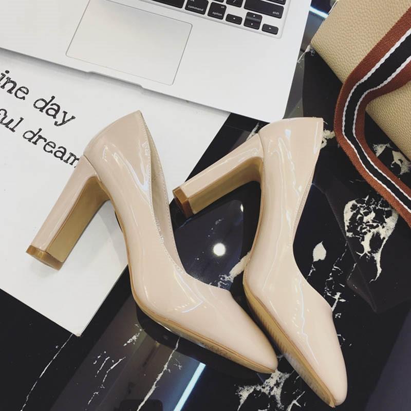 Ericdress PU Slip-On Square Toe Chunky Heel Women's Pumps