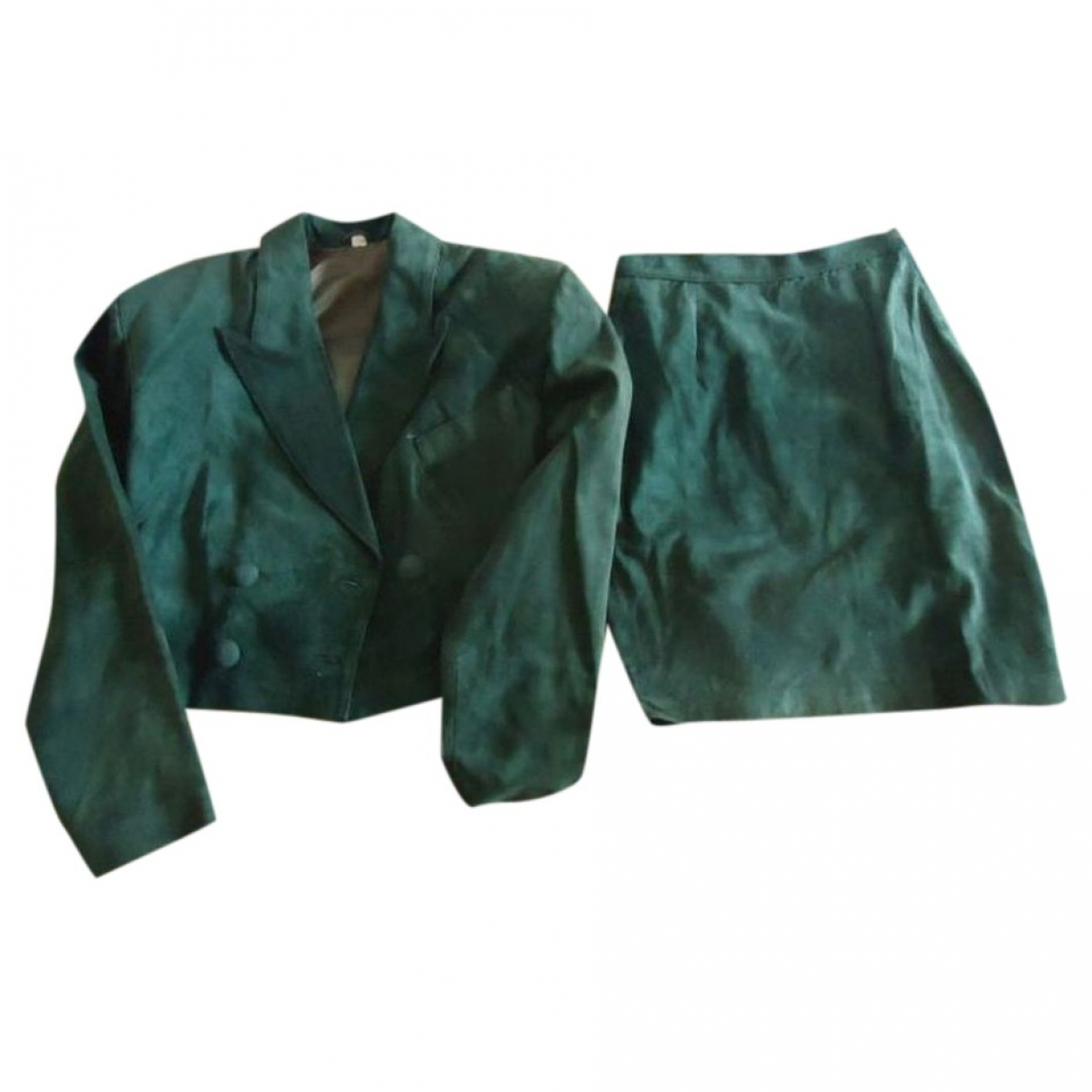 Non Signé / Unsigned \N Green Suede jacket for Women M International