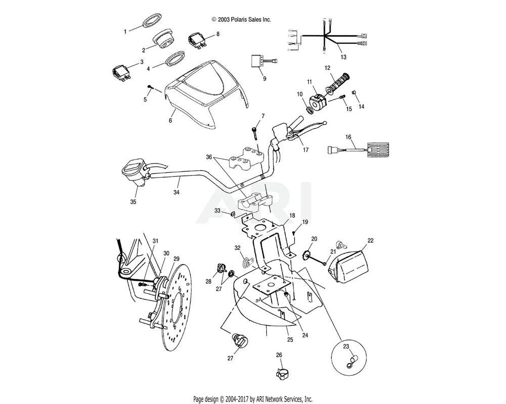 Polaris OEM 2461213 Harness, Wire Pod | (AQ)