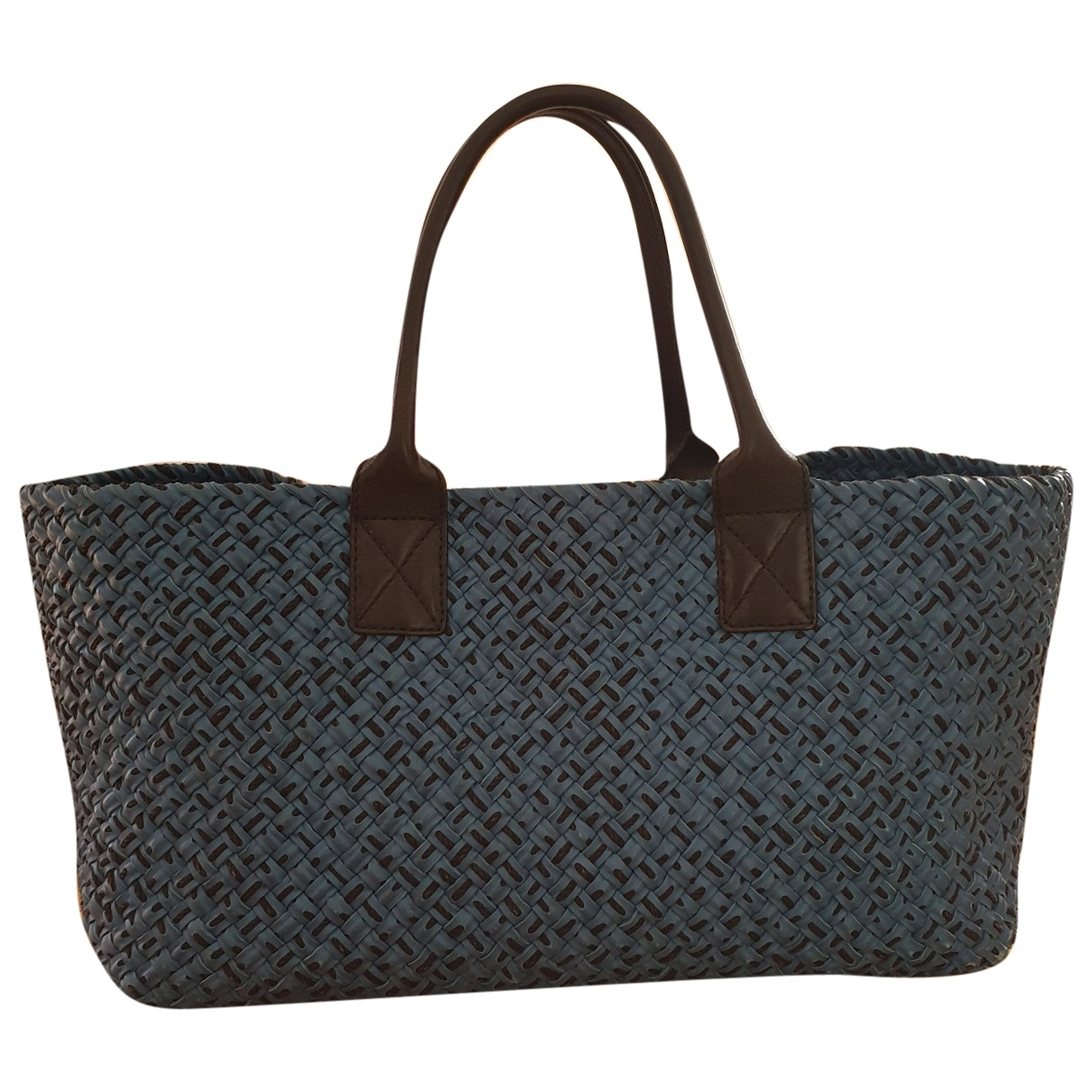 Bottega Veneta Fourre-Tout  Blue Leather handbag for Women \N