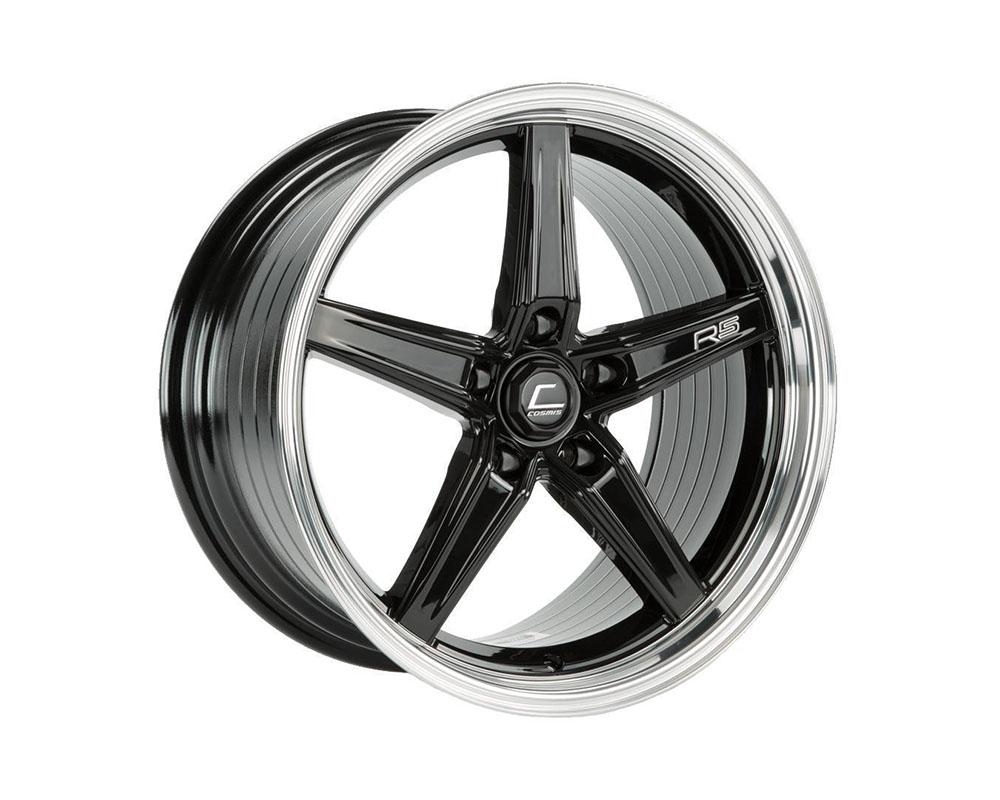 Cosmis Racing R5-1895-25-5x120-BML R5 Wheel 18x9.5 5x120 +25mm Black w/ Machined Lip