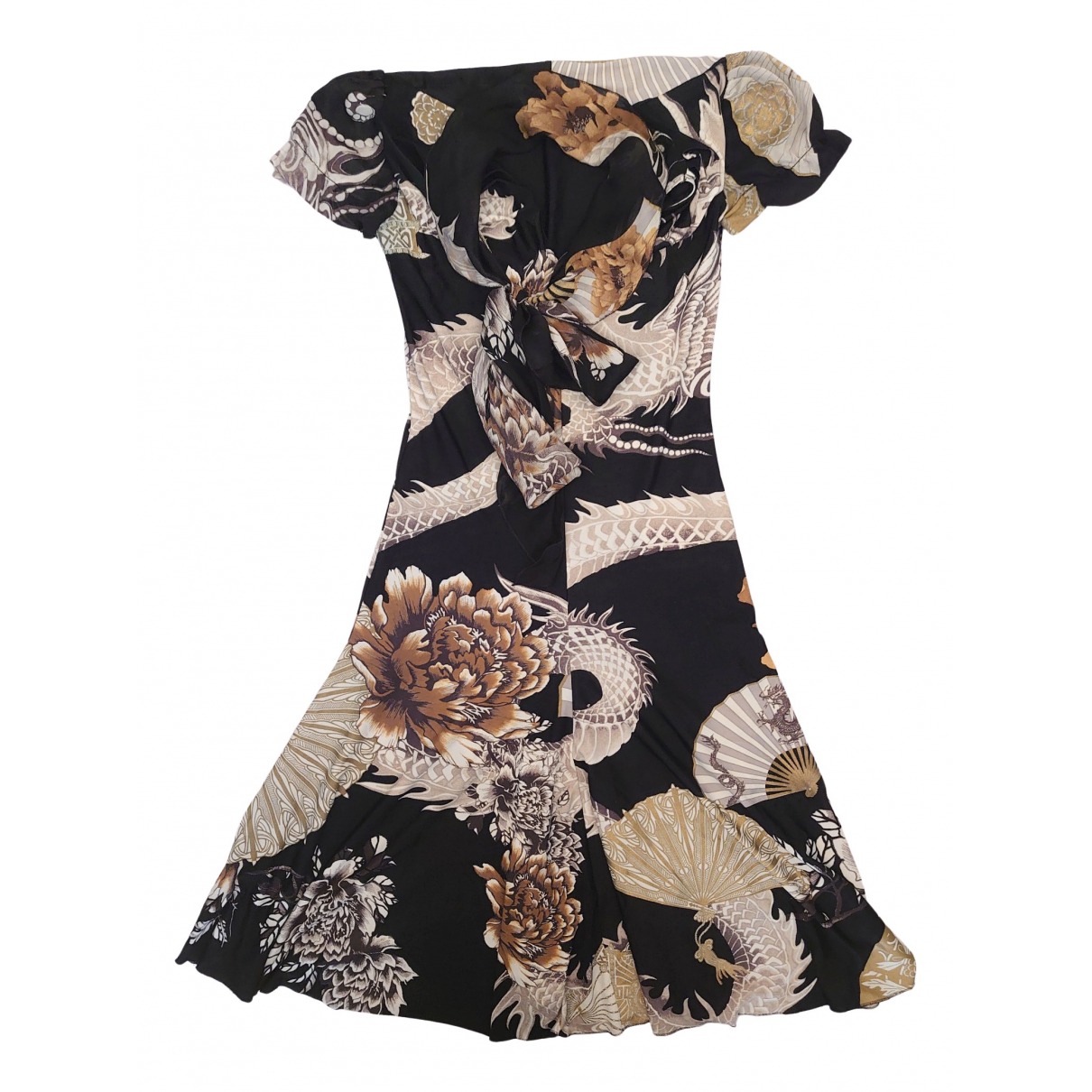 Roberto Cavalli \N Multicolour Silk dress for Women 40 IT